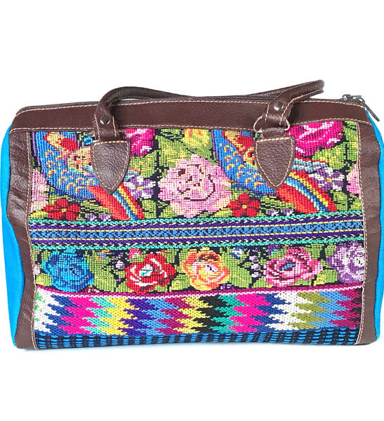 handbag made from floral huipil