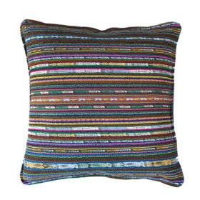 mulicolor striped pillow cover