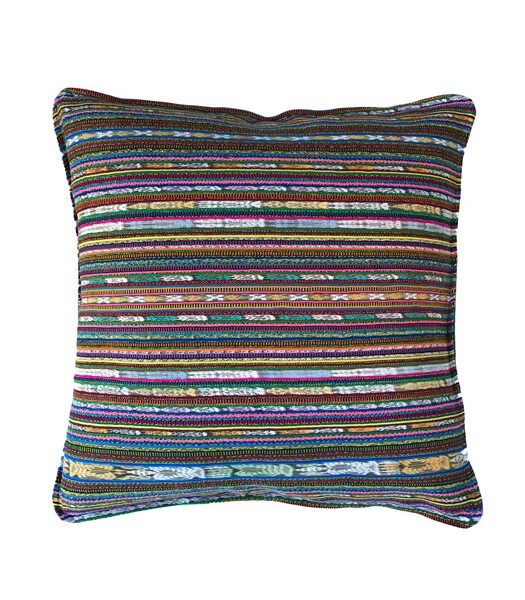 mulicolor striped pillow cover