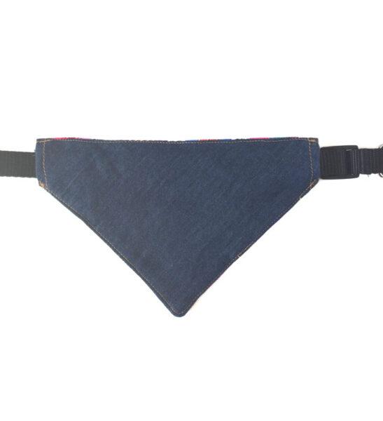 Denim dog collar bandana
