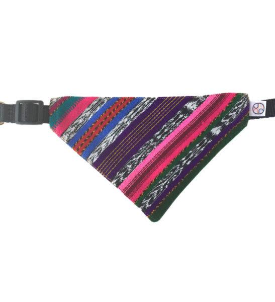 Colorful mayan textile dog bandana