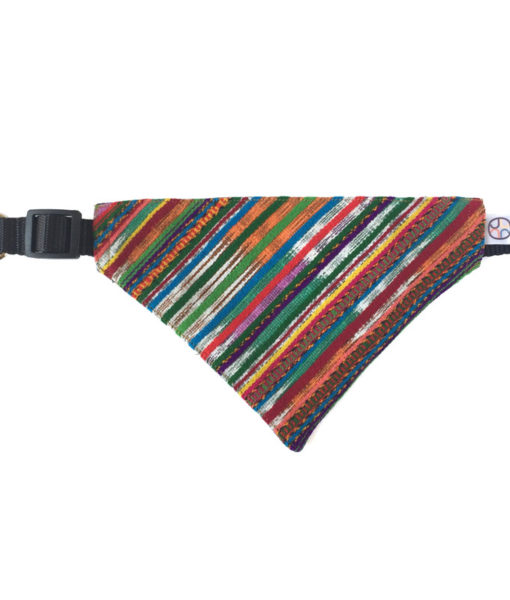 multicolor dog bandana extended