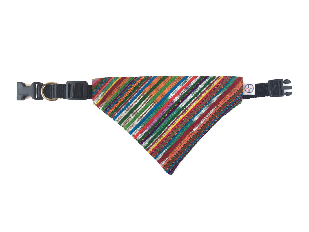 multicolor dog bandana extended
