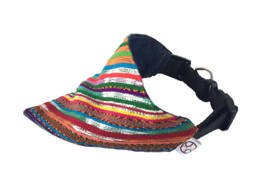 multicolor dog bandana side