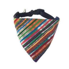 multicolor dog bandana front