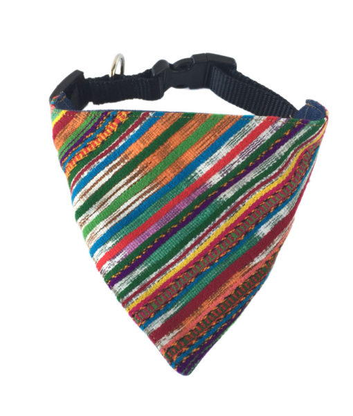 multicolor dog bandana front