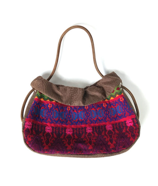 ethnical bag made from vintage huipil