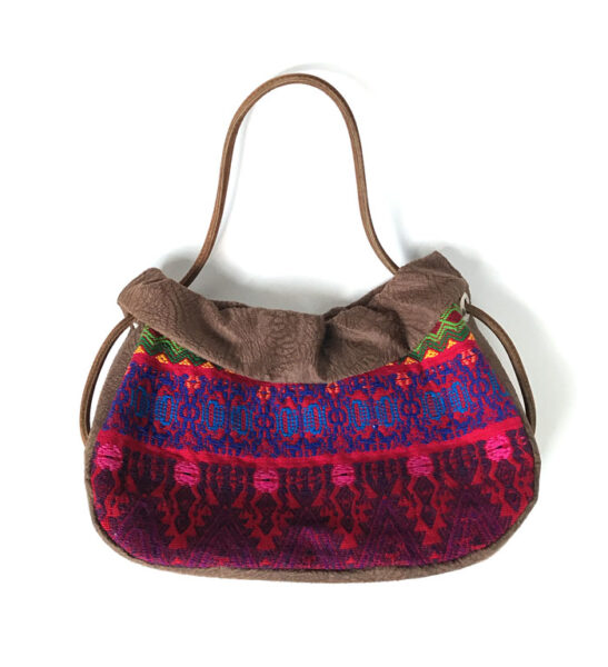 ethnical bag made from vintage huipil