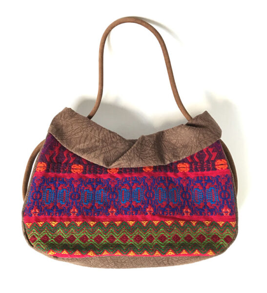 colorful huipil vintage bag