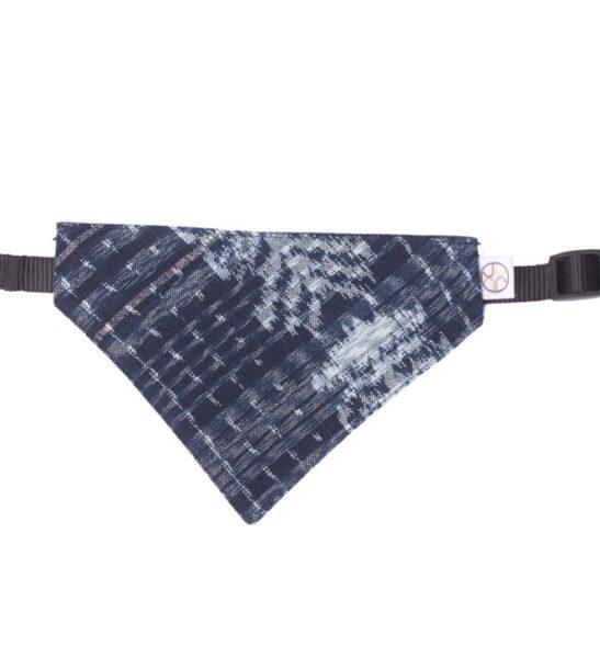 navy blue dog bandana front