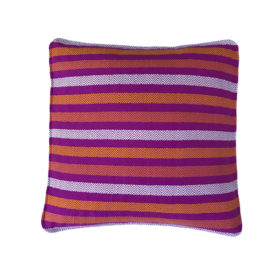 hand made pillow cover, fuchsia and orange