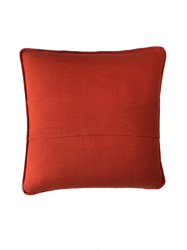 orange back of pillow cover