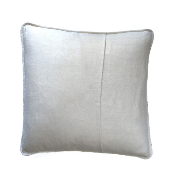 beige back of pillow cover