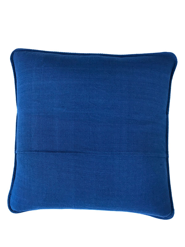blue back of pillow cover