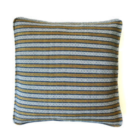 orange white and blue pillow cover