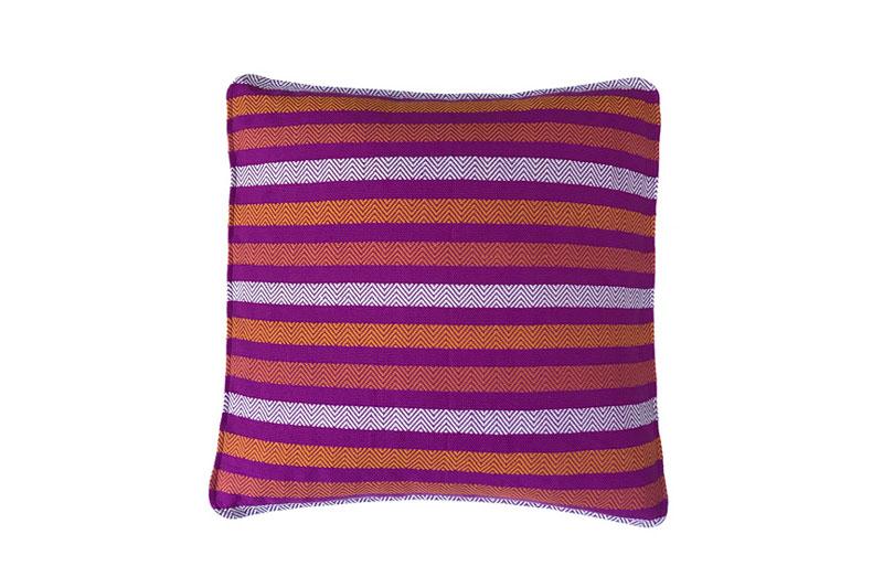 fucsia white and orange pillow cover